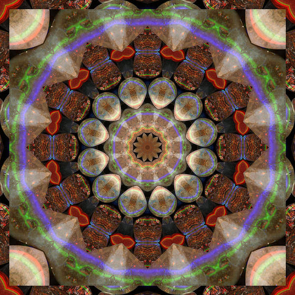 Prosperity Art Poster featuring the photograph Healing Mandala 30 by Bell And Todd