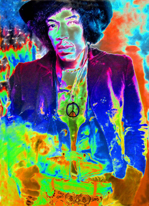 Art Poster featuring the painting Hendrix by David Lee Thompson