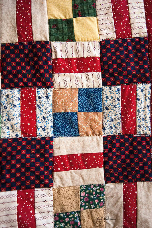 Quilt Poster featuring the photograph Homemade Quilt by Christopher Holmes