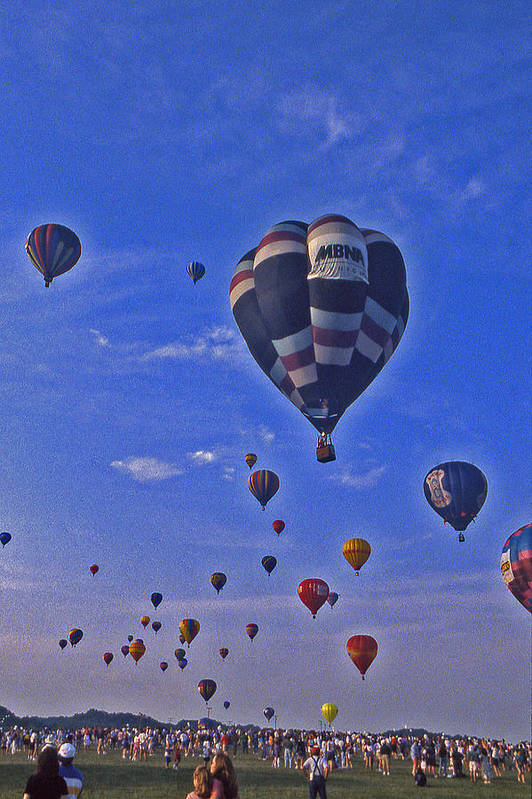Hot Air Balloon Poster featuring the photograph Hot Air Balloon - 14 by Randy Muir