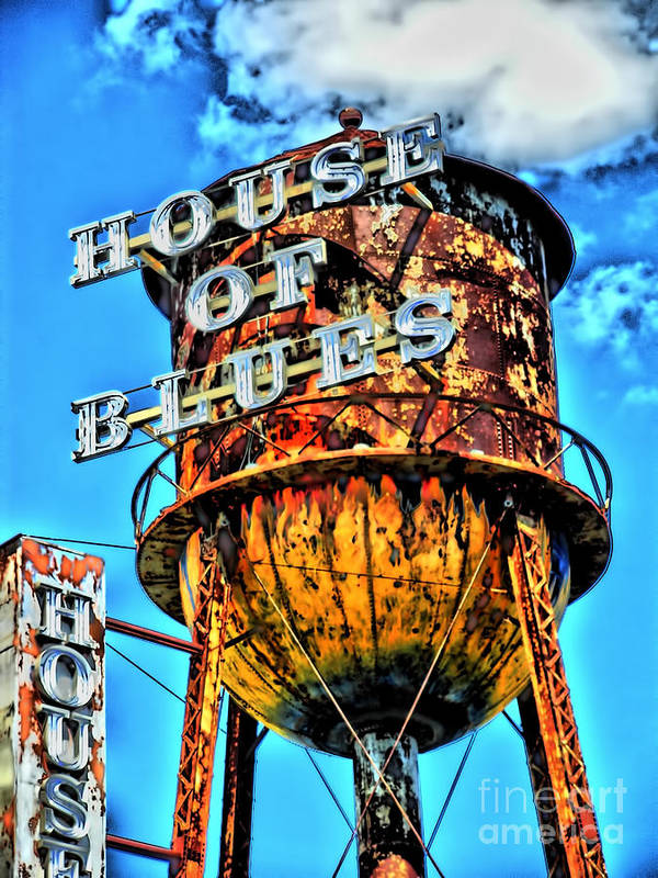 Motorcycle Art Poster featuring the photograph House Of Blues Orlando by Corky Willis Atlanta Photography