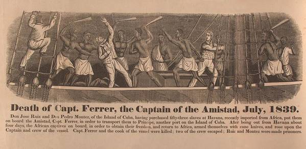History Poster featuring the photograph In 1839 Fifty-four African Captives by Everett