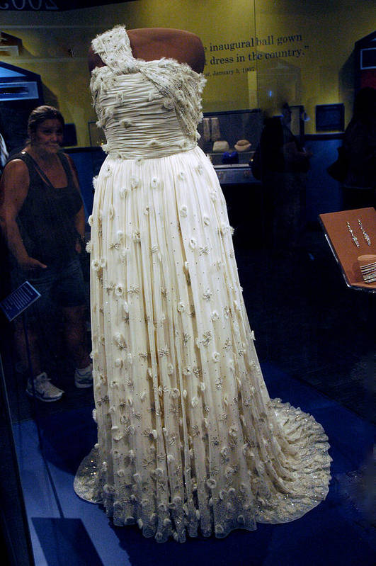 Usa Poster featuring the photograph Inaugural Gown On Display by LeeAnn McLaneGoetz McLaneGoetzStudioLLCcom