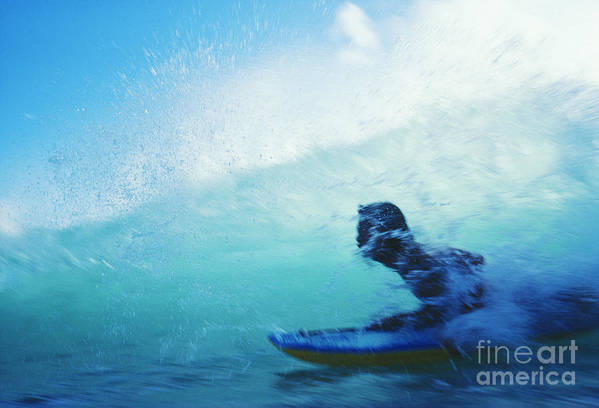 Adrenaline Poster featuring the photograph Inside The Wave by Bob Abraham - Printscapes