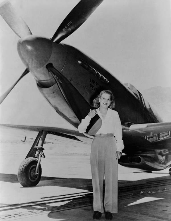 History Poster featuring the photograph Jacqueline Cochran 1906-1980 American by Everett