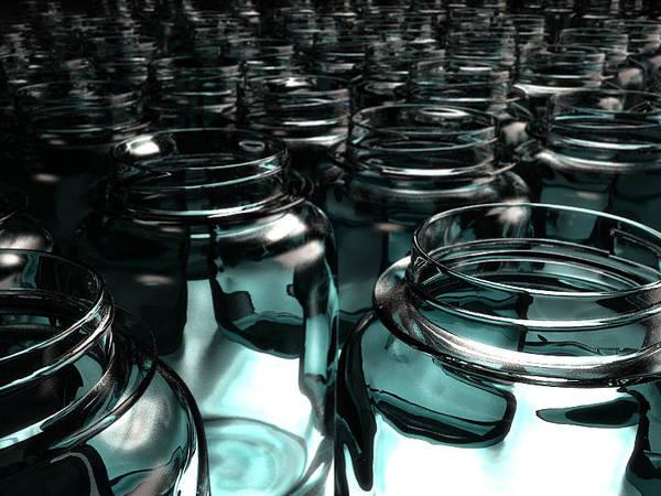 Jars Poster featuring the digital art Jars by Joel Lueck