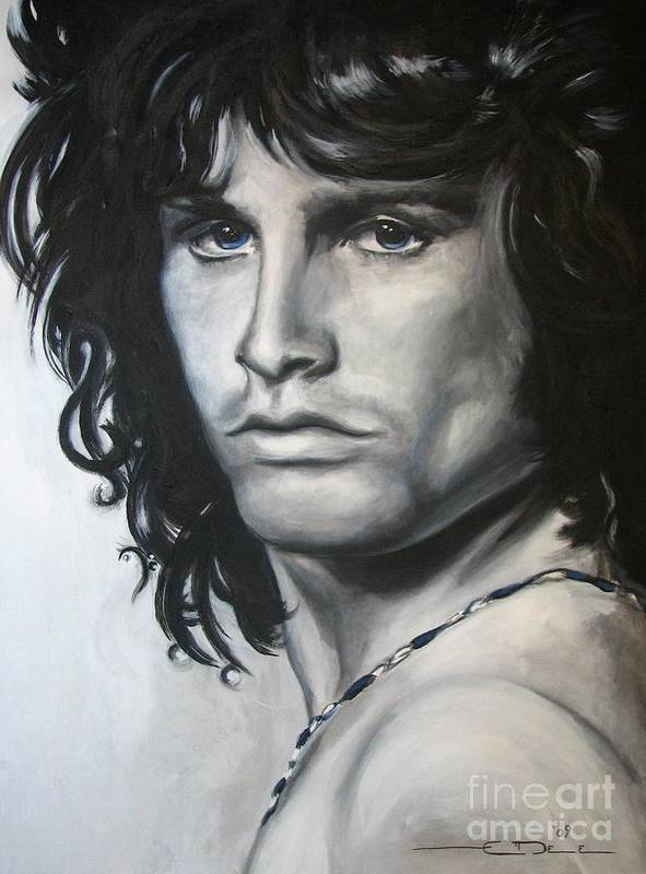Jim Morrison Poster featuring the painting Jim Morrison by Eric Dee