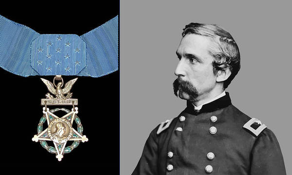 General Chamberlain Poster featuring the painting J.l. Chamberlain And The Medal Of Honor by War Is Hell Store