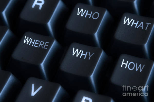Keyboard With Question Labels Poster by Blink Images