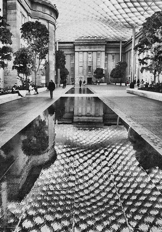 Court Poster featuring the photograph Kogod Courtyard I by Steven Ainsworth