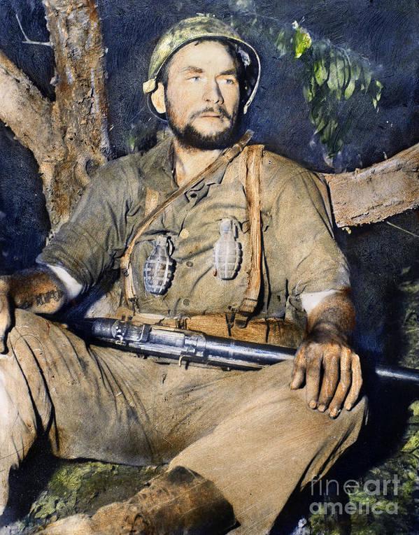 1950 Poster featuring the photograph Korean War: G.i., 1950 by Granger
