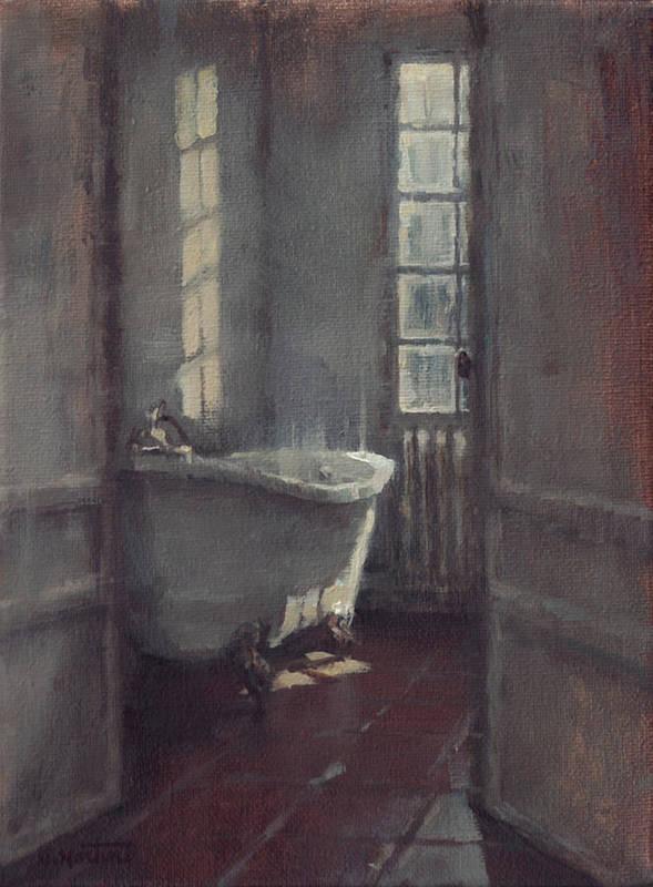 Bath Poster featuring the painting La Baignoire Sur Pieds by Nicolas Martin