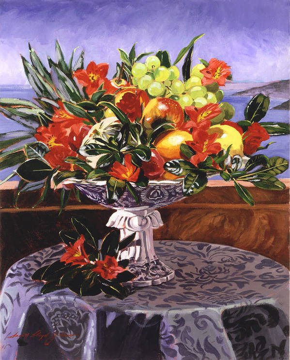 Flowers Poster featuring the painting La Jolla Christmas by David Lloyd Glover