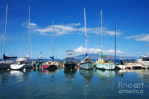 Adventure Poster featuring the photograph Lahaina In Blue by Ron Dahlquist - Printscapes