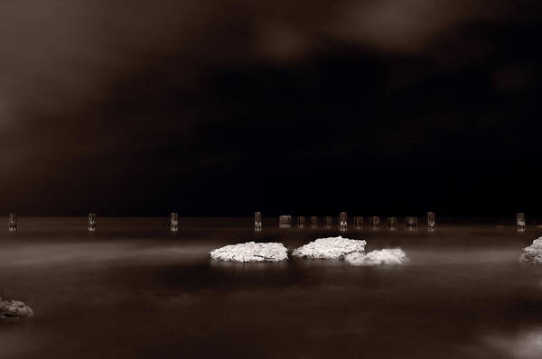 Chicago Poster featuring the photograph Lake Ice by Steve Gadomski