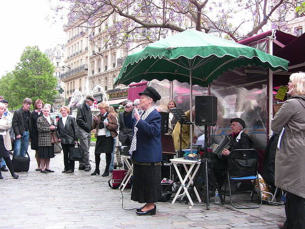 Paris Poster featuring the photograph Le Avenue Mouffetard by Lori Secouler-Beaudry
