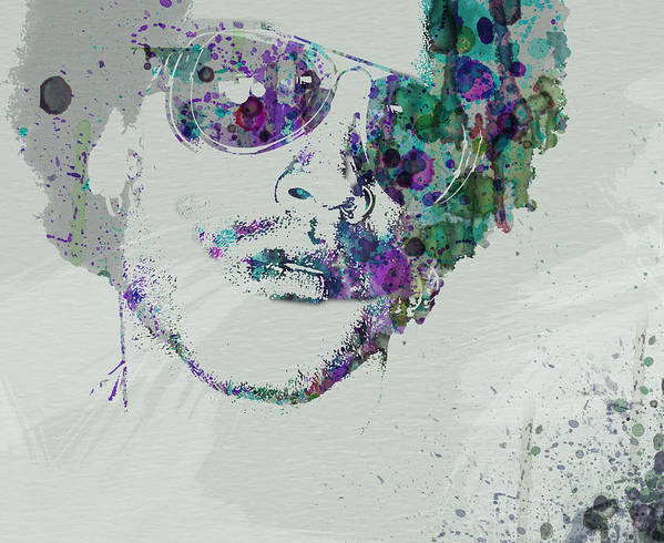 Poster featuring the painting Lenny Kravitz by Naxart Studio