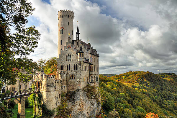 Germany Poster featuring the photograph Lichtenstein Castle by Ryan Wyckoff