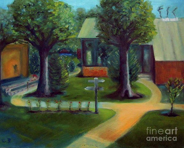 Oil Painting Poster featuring the painting Lichterman Nature Center by Karen Francis