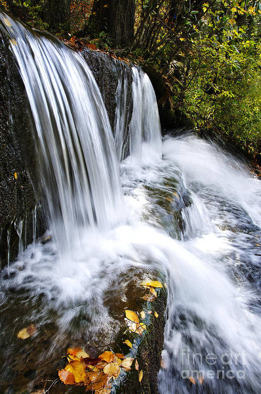 Little Elbow Poster featuring the photograph Little Elbow Waterfall by Thomas R Fletcher