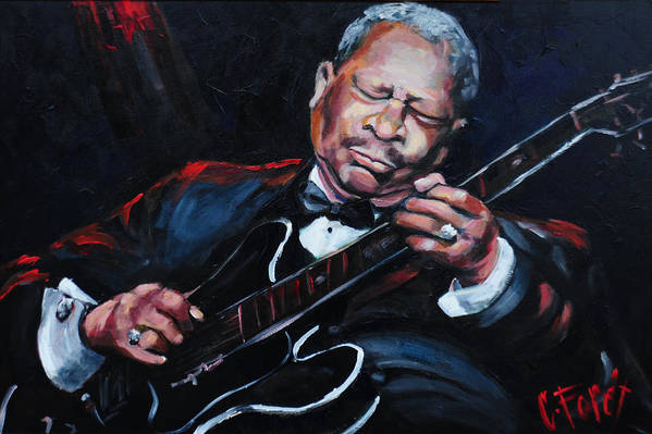 Lucille Poster featuring the painting Lovin Lucille B B King by Carole Foret