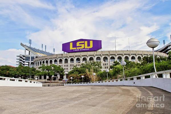 Tiger Stadium Poster featuring the photograph Lsu Tiger Stadium by Scott Pellegrin