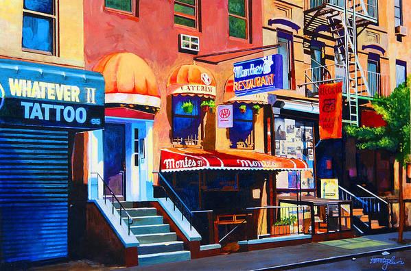 Macdougal Street Poster featuring the painting Macdougal Street by John Tartaglione