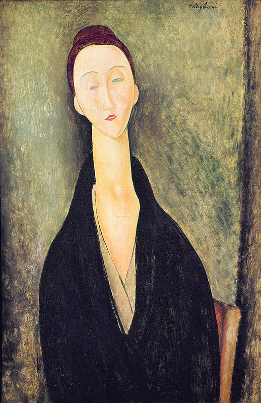 Madame Poster featuring the painting Madame Hanka Zborowska by Amedeo Modigliani