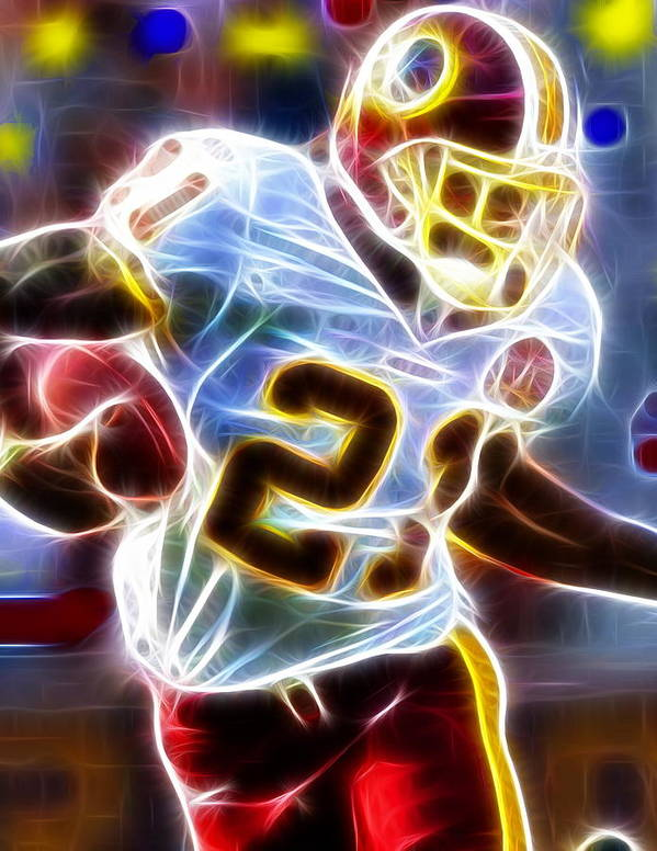 Sean Taylor Poster featuring the painting Magical Sean Taylor by Paul Van Scott