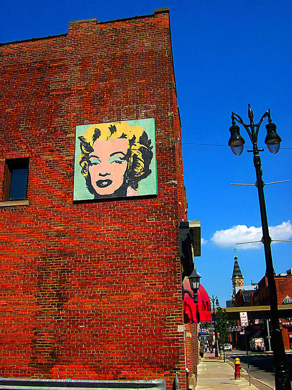 Guy Ricketts Photography Poster featuring the photograph Marilyn Monroe In Detroit by Guy Ricketts