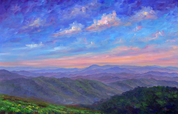 Max Patch Poster featuring the painting Max Patch North Carolina by Jeff Pittman