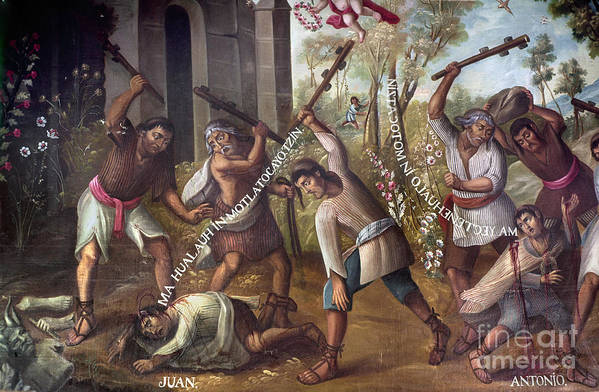 18th Century Poster featuring the photograph Mexico: Christian Martyrs by Granger