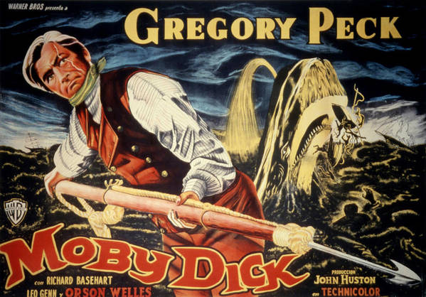 1950s Poster Art Poster featuring the photograph Moby Dick, Gregory Peck, 1956 by Everett