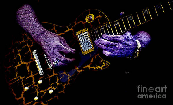 Guitar Poster featuring the photograph Musical Grunge by Steven Digman