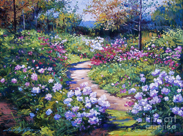 Gardens Poster featuring the painting Nature's Garden by David Lloyd Glover