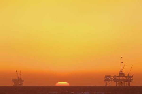 Horizontal Poster featuring the photograph Oil Rig by Eric Lo
