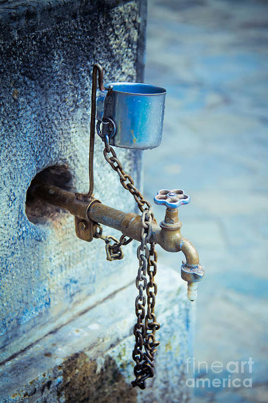 Water Tap Poster featuring the photograph Old Water Tap by Gabriela Insuratelu