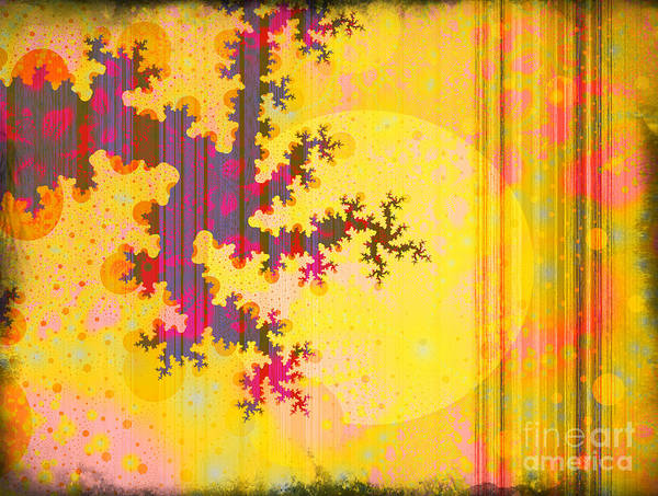 Moon Poster featuring the digital art Oriental Moon Behind My Courtain by Silvia Ganora