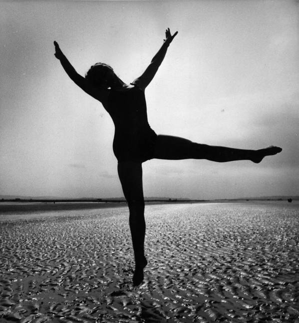 Mid Adult Poster featuring the photograph Pamela Dancing by John Chilingworth
