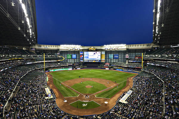 Miller Park Poster featuring the photograph Play Ball by CJ Schmit