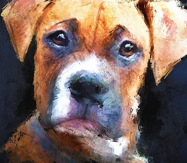 Dog Poster featuring the painting Pooch by Robert Smith