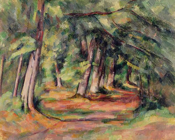 Sous-bois Poster featuring the painting Pres Du Jas De Bouffan by Paul Cezanne