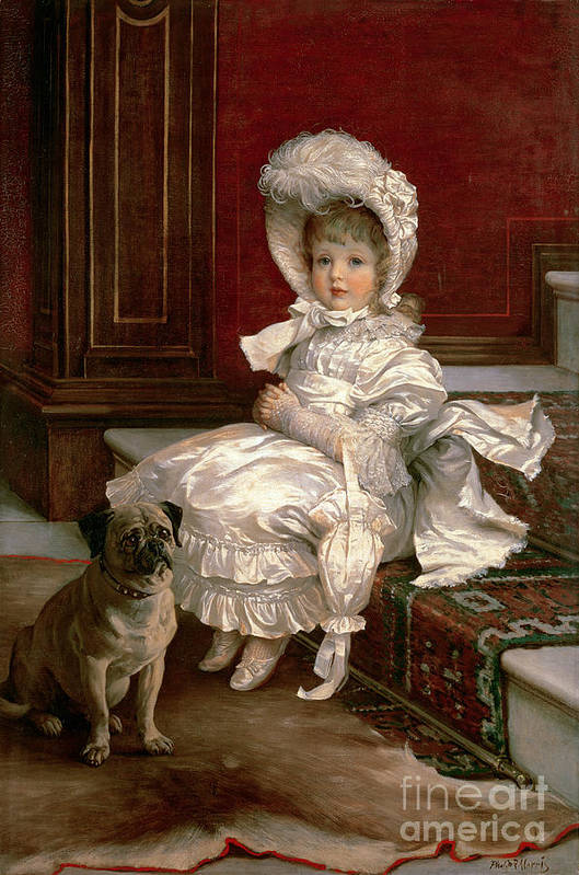Quite Ready (oil On Canvas) By Philip Richard Morris (1838-1902) Poster featuring the painting Quite Ready by Philip Richard Morris