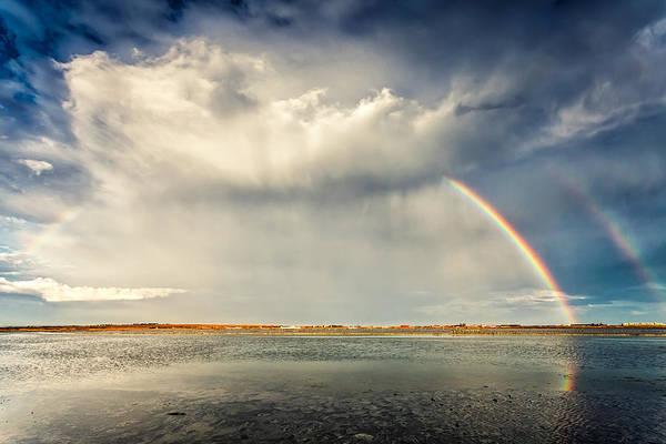Atanasovsko Lake Poster featuring the photograph Rainbow by Evgeni Dinev