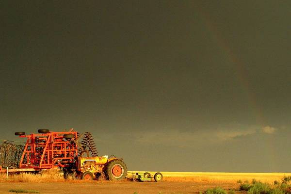 Rainbow Poster featuring the photograph Rainbow Harvest.. by Al Swasey