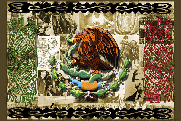 Mexico Poster featuring the digital art Raza by Roberto Valdes Sanchez