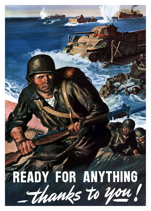 Soldiers Poster featuring the painting Ready For Anything - Thanks To You by War Is Hell Store
