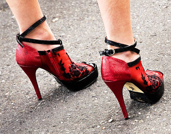 Shoes Poster featuring the photograph Red Heels by Marion McCristall