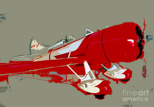 Fast Poster featuring the painting Red Racer by David Lee Thompson