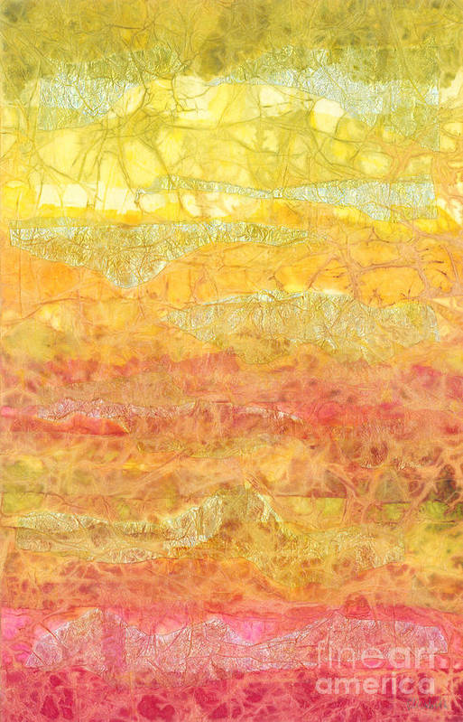 Abstract Poster featuring the mixed media Rhapsody Of Colors 30 by Elisabeth Witte - Printscapes